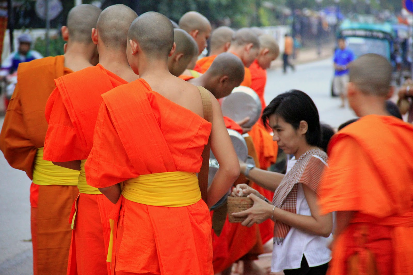 things to do in luang prabang alms giving