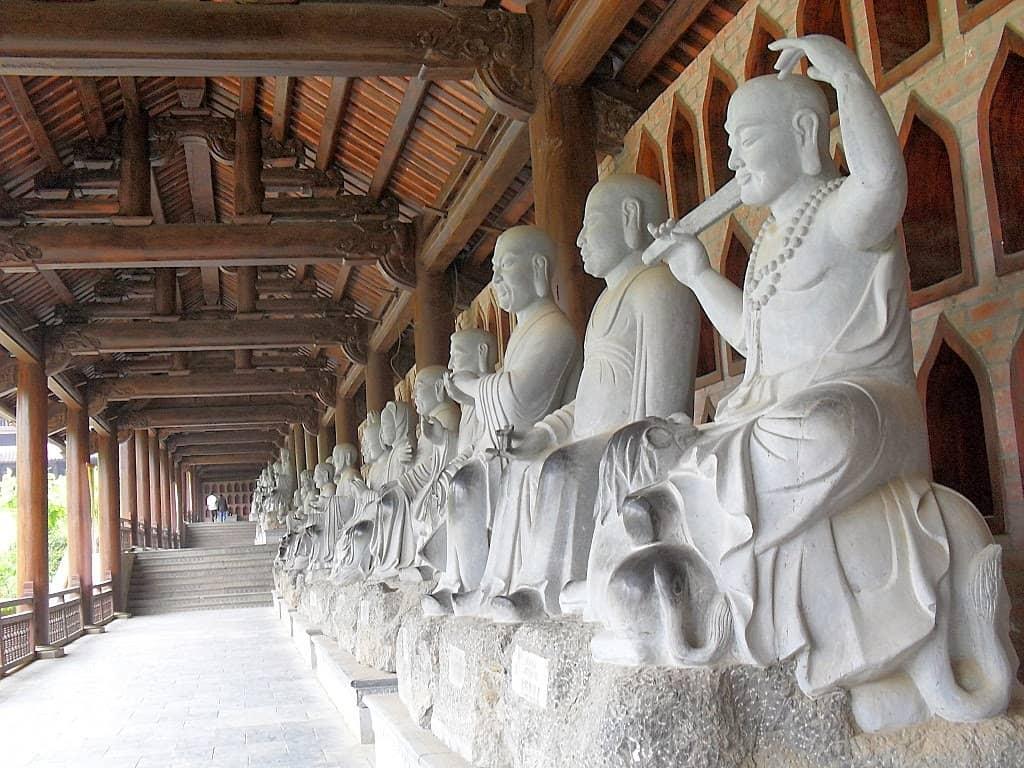 500 statue in Bai dinh Pagoda in Ninh Binh Vietnam