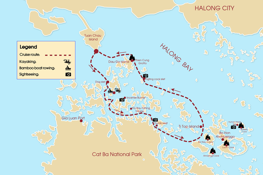 halong bay day cruise map - Top 10+ Unique & Amazing Things to do in Halong Bay, Vietnam (2020)