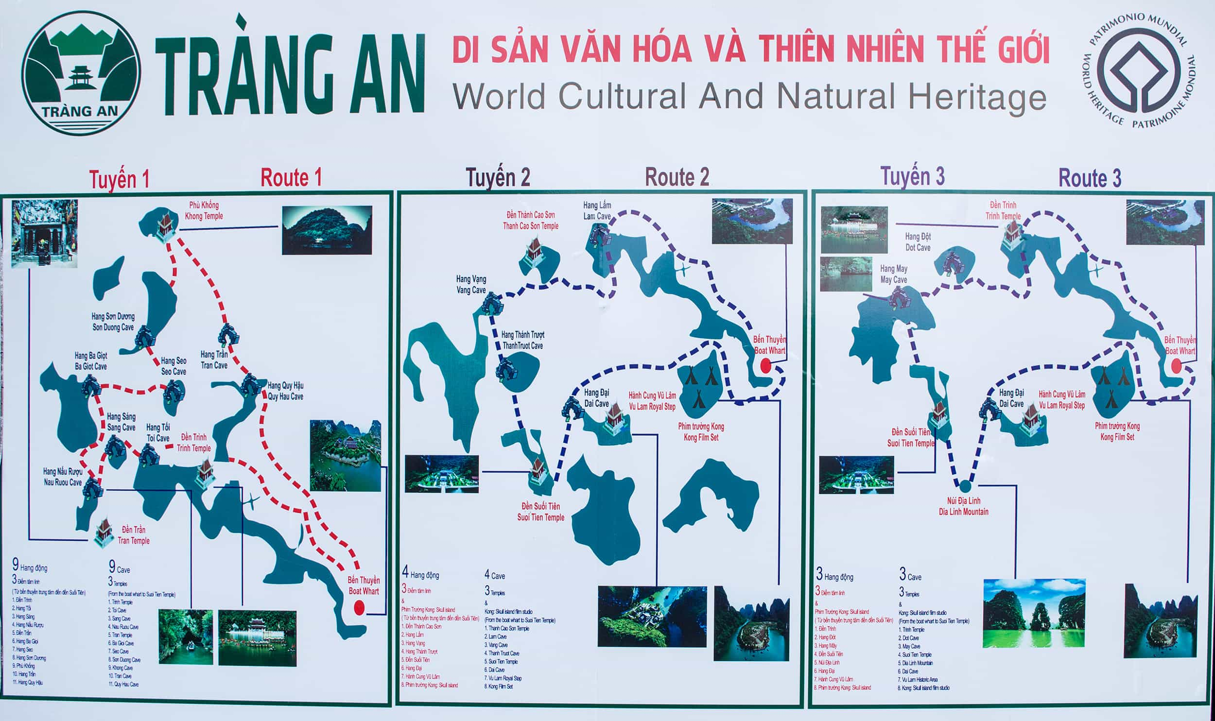 trang an route map