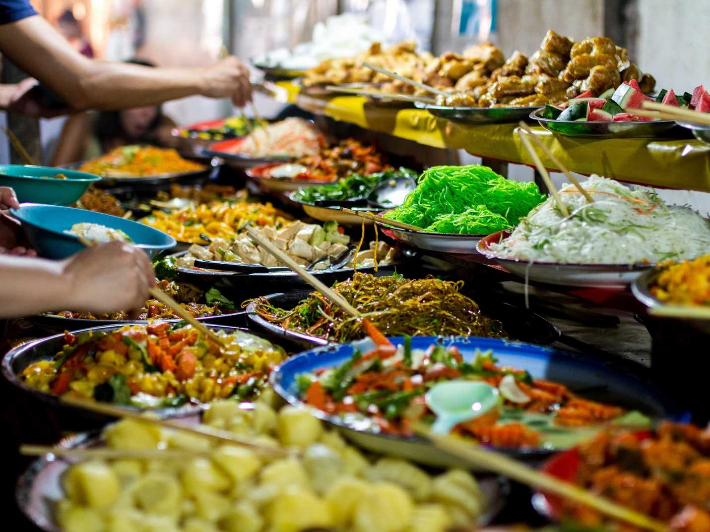 luang prabang buffet street