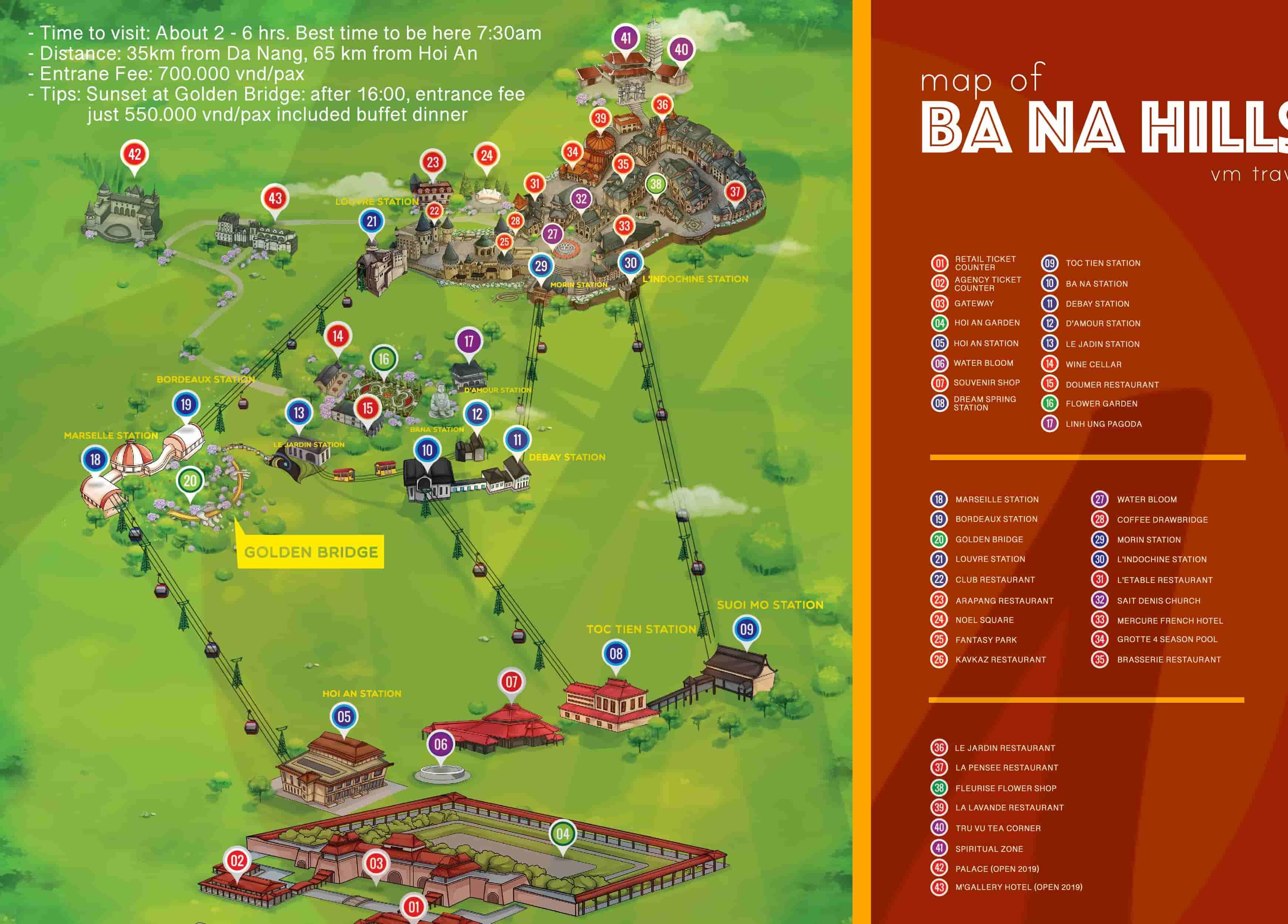 Ba Na Hills Maps
