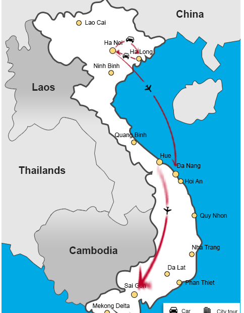vietnam itinerary for first-time visitors